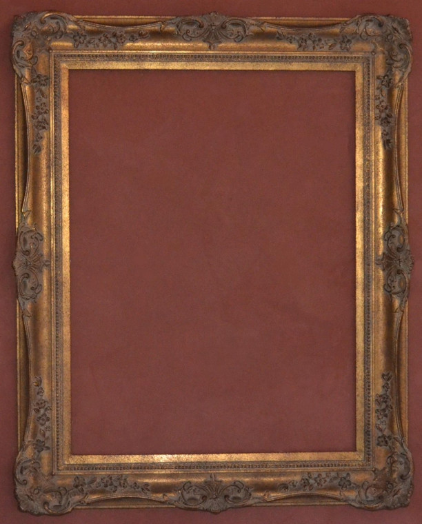 """FM 665 - Gold Metal Leaf M Tone, DNPSW, 5 3/8"""" Width  X  2"""" Hight  The Frame in this Image is 30""""  x  40"""" (Art Size)"""