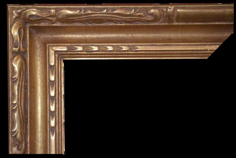 C-9076 Custom Hand Carved Picture Frame, Plein Air, 22 Karat Genuine Gold leaf