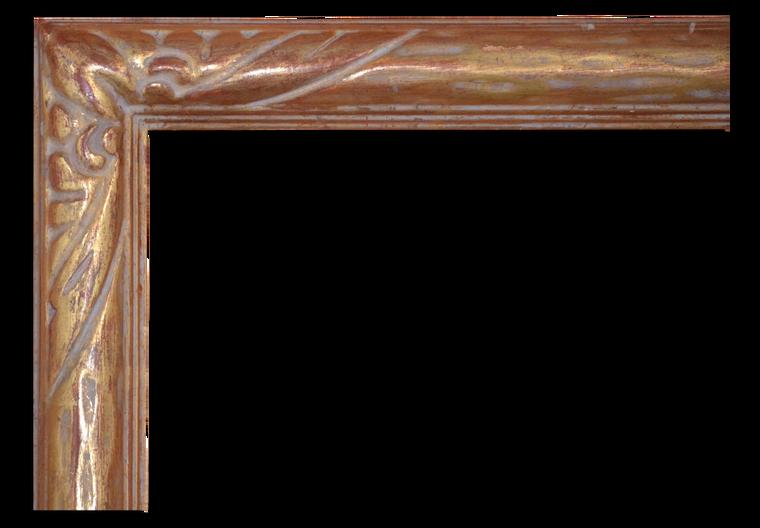 C - 9337 - Custom Hand Carved Picture Frame, Genuine 22 Karat Gold Leaf