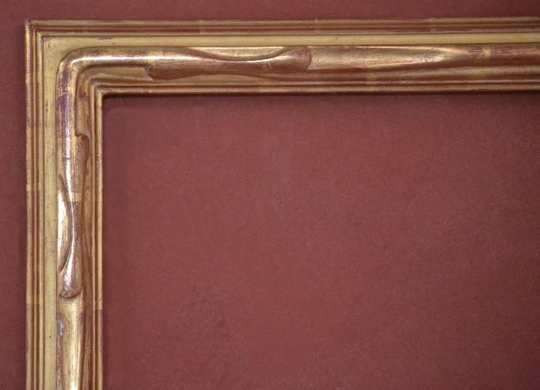 "C - 9385 - Hand Carved, Plein Air, 22 Karat Genuine Gold Leaf  Moulding Width 2 3/4""  X  1 3/4"" Hight  Rabbet Size: 3/4""  Hight  x  5/16"" Width"