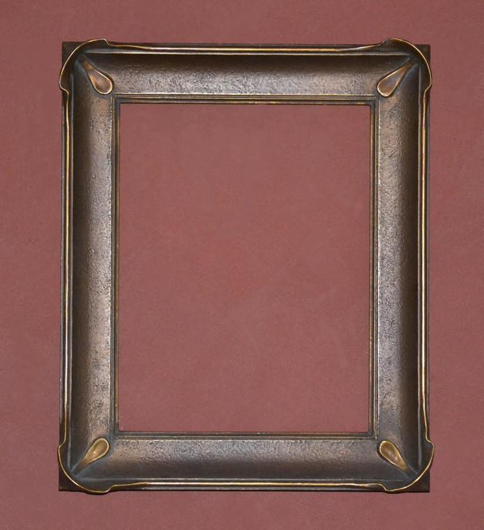 "C - 9007 -  Plein Air, Gold Metal Leaf  Moulding Width  2 1/4""  X  1 3/8"" Hight  Rabbet Size: 1/4""  Hight  x  3/8"" Width"