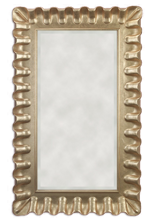FMOO126  -   Hand Carved Frame with Gold Metal Leaf & Clear Mirror