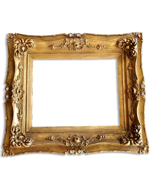 """16"""" x 20"""" Composition On Wood Picture Frame/ Double Frame"""
