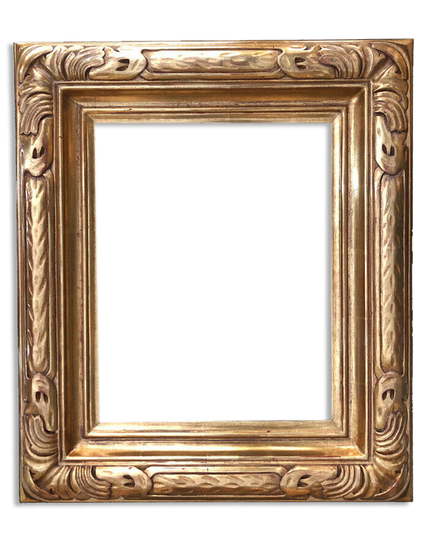 """11' x14"""" Solid Wood Hand Craved Picture Frame Water Gilded in Genuine Gold Leaf"""