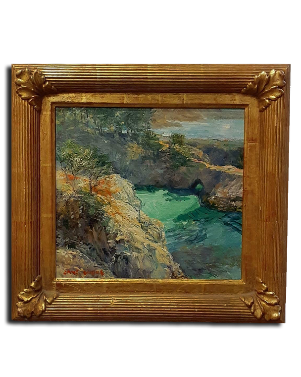 """11"""" x 12"""" Original Oil On Canvas By Jane Goode- 22k Gold Frame by Richard Tobey"""