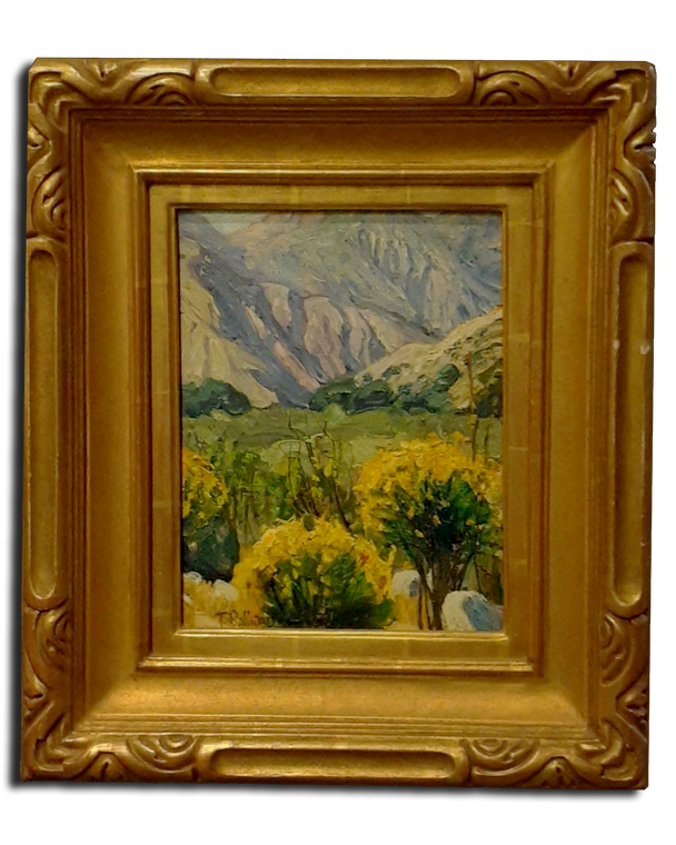"""11 1/4"""" x 8 3/4"""" Original Oil On Board By Tim Solliday 22k Gold Frame by R.Tobey"""