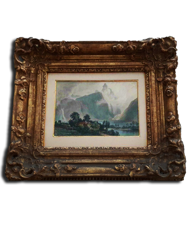"""10"""" x 7 1/2"""" Colored Print """"22k Gold Frame By Richard Tobey"""