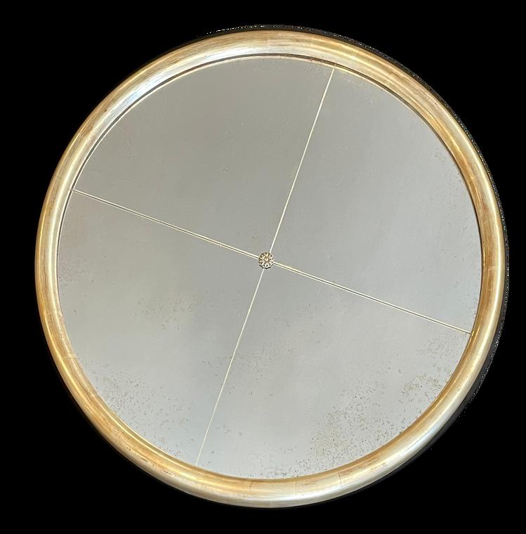 """1 1/4"""" Wide 30"""" Diameter Solid Wood Round Mirror"""