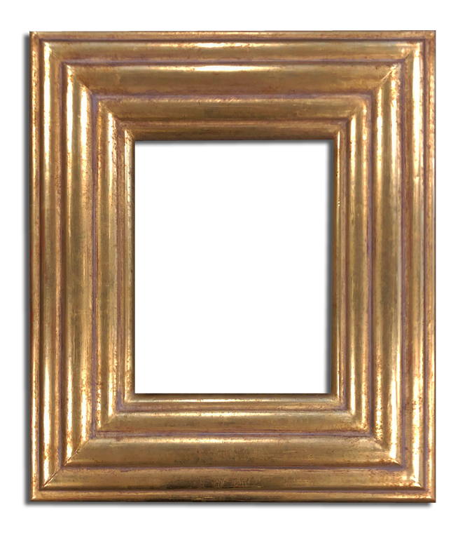 """4"""" Wide 8 """" x 9 3/4"""" Solid Wood Picture Frame, Gilded in 22K Gold Leaf"""