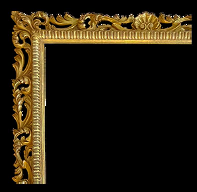 Hand Carved, 23 Karat Genuine Gold leaf