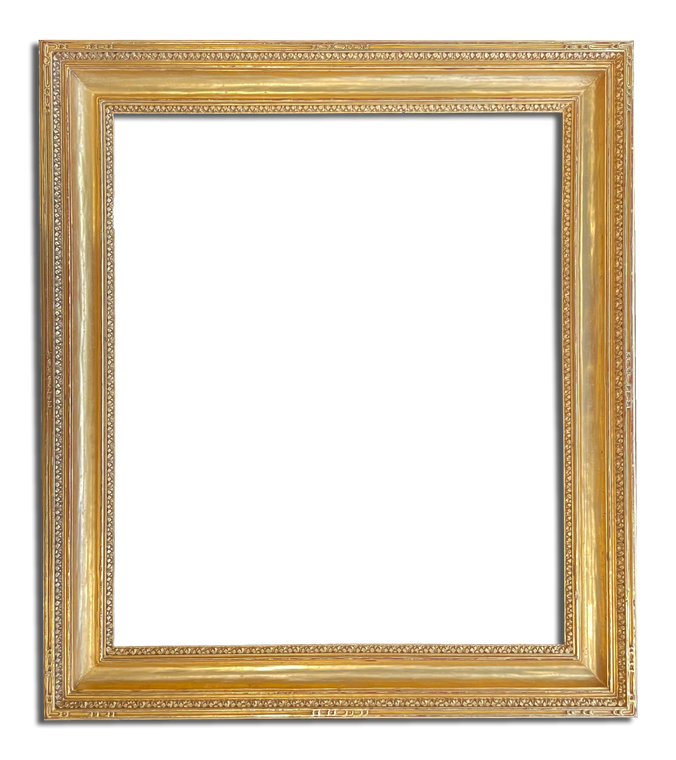 """3 7/8"""" Wide - 24"""" x 28"""" Solid Wood Hand Carved Picture Frame Gilded in 22k Gold"""