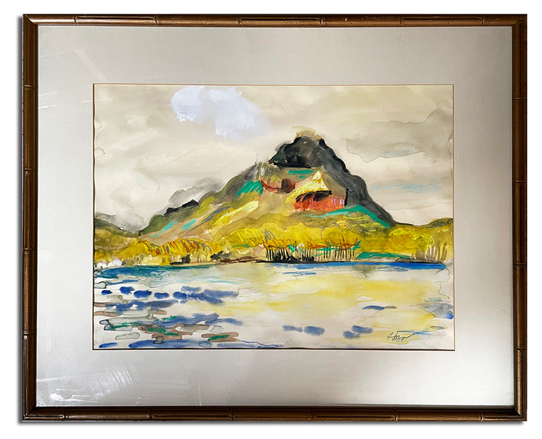 """Water Color Attributed To Laura Horn - But Not Verified 31"""" x 25"""""""