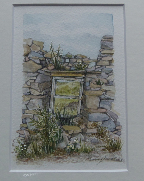 'Alston Ruin' watercolour by Mandy Jones