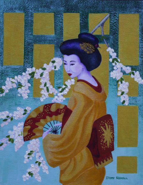 Geisha Artist: David Renwick Media: Hand Embellished Giclee Print
