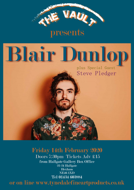 Blair Dunlop, the award-winning British singer, songwriter and guitarist, has now released 3 albums 2 ep's and toured widely around the globe.  All of this in a short 4-year career is astounding alone but what sets Blair apart from his peers is the lyrical and musical maturity with which he writes.  His third album 'Gilded' was released in May 2016 on his own label – Gilded Wings – and was widely acclaimed gaining BBC Radio 2 Playlist status for the two single releases ('The Egoist' and '356') both of which were remixed by Ed Harcourt.  Prior to this Blair released his acclaimed album 'House Of Jacks' in mid 2014 which lived up to the promise of his 2012 debut 'Blight and Blossom' (the quality of which contributed to his winning the BBC Radio 2 Horizon Award).  Blair has now cemented his place as one of Britain's most exciting talents to come from the folk scene. The Guardian stated that the 'House Of Jacks' proves Blair is 'an increasingly adventurous songwriter', Uncut reviewed it as 'thoughtful and exploratory', The Independent on Sunday described it as 'fluent, lamentory and accomplished' while Q Magazine wrote that House of Jacks is 'an exciting glimpse of where traditional folk might go'.
