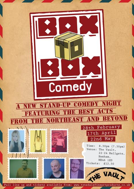 Box to Box Comedy Friday 22nd May 2020 7:30pm