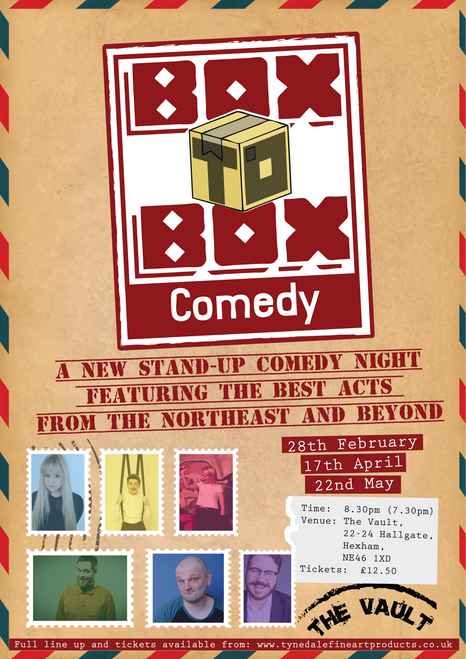 Box to Box Comedy Friday 22nd May 2020 7:30pm