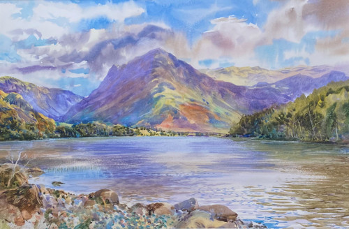 Fleetwith Pike Buttermere  a Watercolour by Ben Haslam painted on location  . (unframed Price )