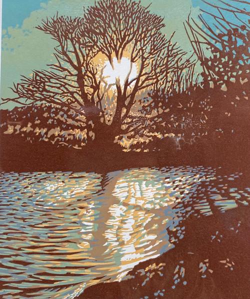 Illumination . A Lino cut  edition by Tom Davidson