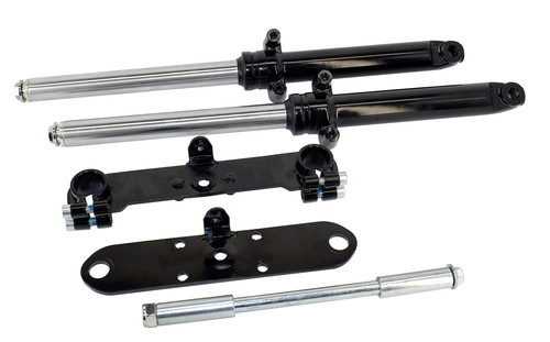 Minibike Suspension Kit, Complete Front Fork Assembly, Universal