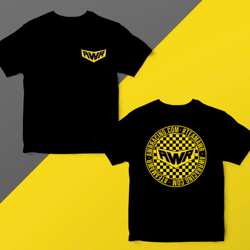TEAMAWR checkered t-shirt
