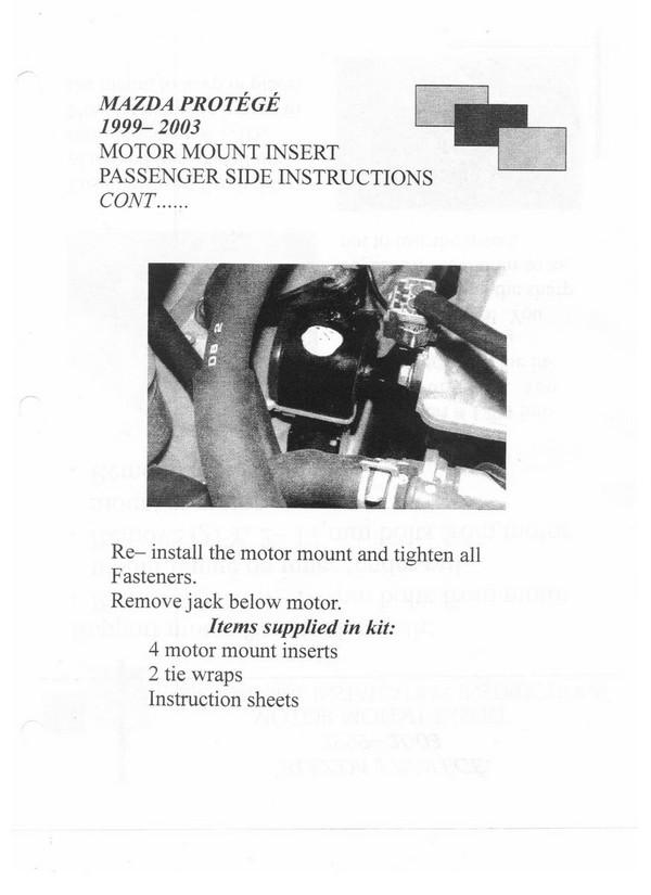 Engine Mount Inserts - Protege 1999-03 - Driver's Side
