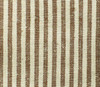 Hemp and organic cotton yarn dyed brown ticking.