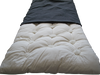 TRAVEL / CAMP / GUEST BED - Eco Wool-filled - hemp & organic cotton cover