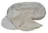 BASSINET SET w/ Hand-made Eco-Wool Filled Mattress, Organic Wool Puddle Pad, Hemp Cotton Sheet - Natural New Chemical Free
