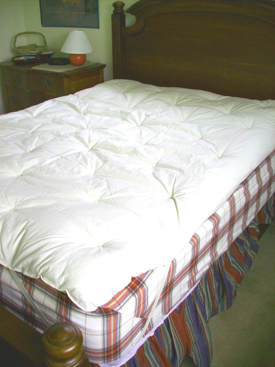 Wool Mattress Topper With Organic Hemp Cotton Encasement