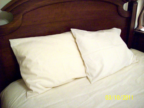PILLOWCASE - 100% Organic Cotton or Cotton-Hemp blend - washable, unbleached, undyed, off-white cream