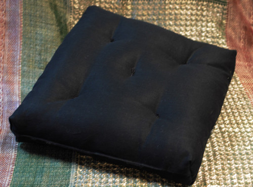 ZABUTON - Hand-made meditation cushion - Organic Hemp & Eco Wool - Hypoallergenic