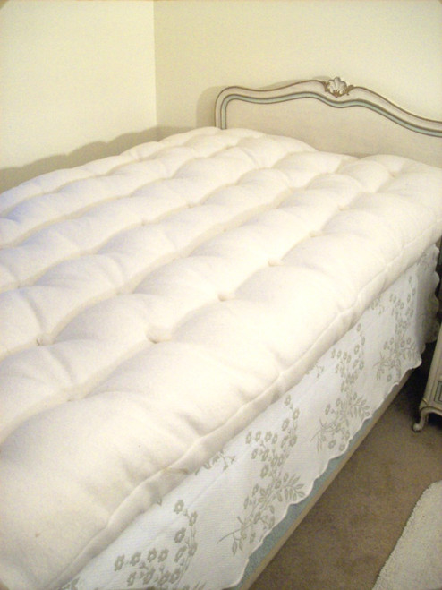 WOOL MATTRESS - Twin Full Double Queen King and California King - Hand-made - Natural Bedding