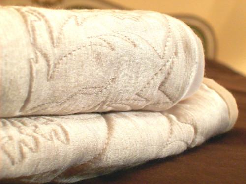 Quilted Organic Wool & Hemp Silk Satin Blanket