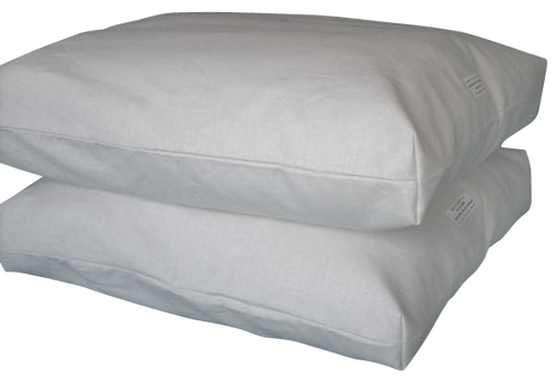 BED PILLOW Hemp/Organic Cotton filled with Eco Wool Batting Muslin Neck Roll Bolster Ergonomic Support New Natural Linens USA  Free Shipping