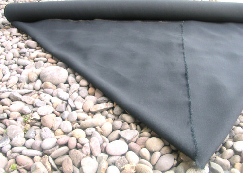 BLACK HEMP CANVAS FABRIC - By The Yard - Low Impact Dyed - 16.5 Oz. - 100% Hemp material