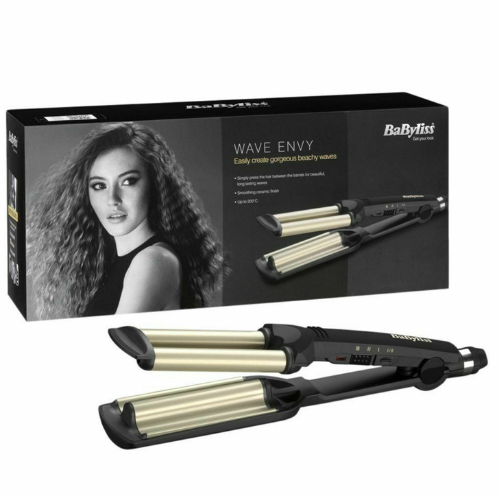 BaByliss 2337 Wave Envy Hair Styler 3 Heat Setting Up To 200C Ceramic Plates