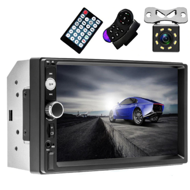 """Car 7"""" HD Stereo Media Receiver+8 IR Camera│MP5 Player│For Volkswagen/Nissan/Kia"""