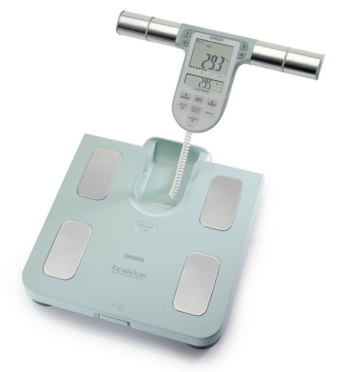 OMRON BF511 Body Composition Monitor│8 High-Precision Sensors│Hand Mea│TURQUIOSE