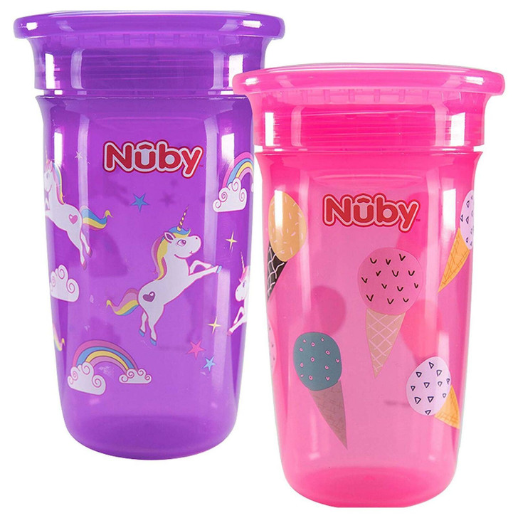 Nuby 360 Insulated Maxi Spill Proof Seal Beaker Watertight Cup 300ml 12m+ 1PK