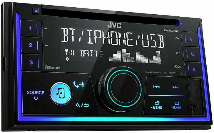 JVC Car Stereo Player│2-DIN CD Receiver│Bluetooth│USB/AUX│iPod/iPhone/Android