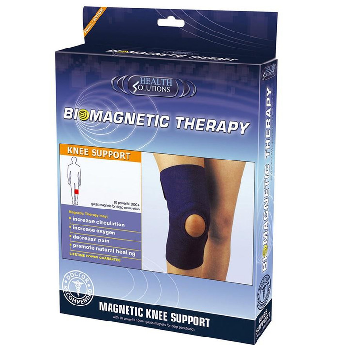 Health Solutions Biomagnetic Knee Support│Pain Relief Therapy/Treatment│L/XL