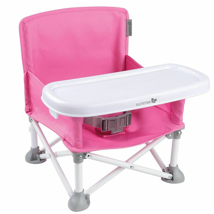 Summer Infant Pop N Sit|Baby Travel Folding Partable Booster Seat|BPA Free|Pink|