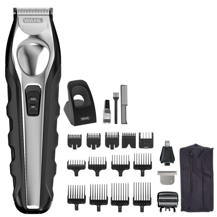 Wahl Cordless 4 in 1 Multi Grooming Set│Hair Face Nose Body Groom│Trimmer