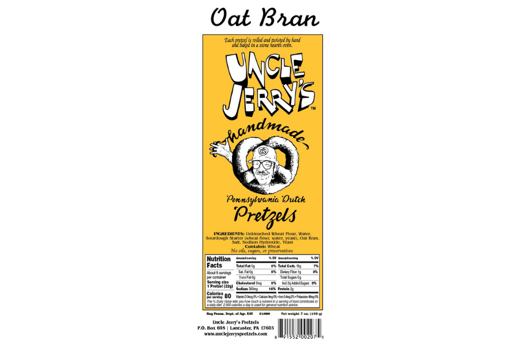 Uncle Jerry's Pretzel Oat Bran Pretzel Logo
