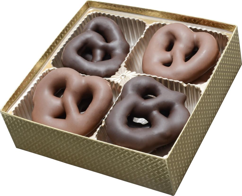 Chocolate Pretzel Gold Gift Box
