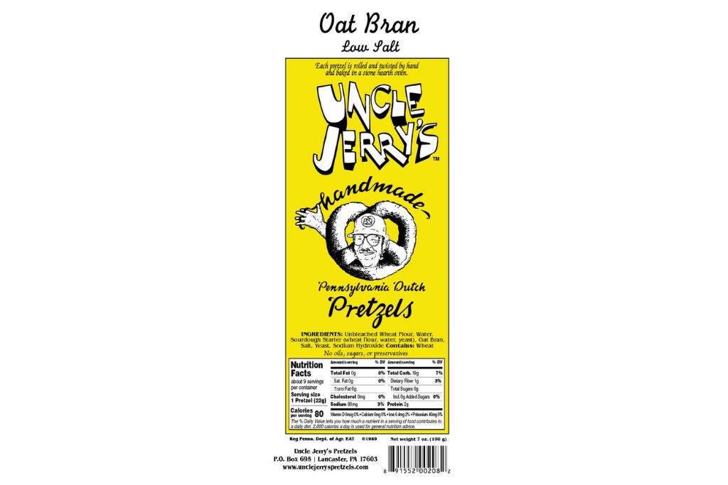 Uncle Jerry's Pretzels Oat Bran Pretzel Logo 1