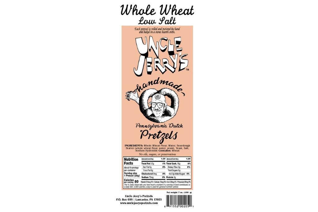 Uncle Jerry's Pretzels Whole Wheat Pretzel Logo