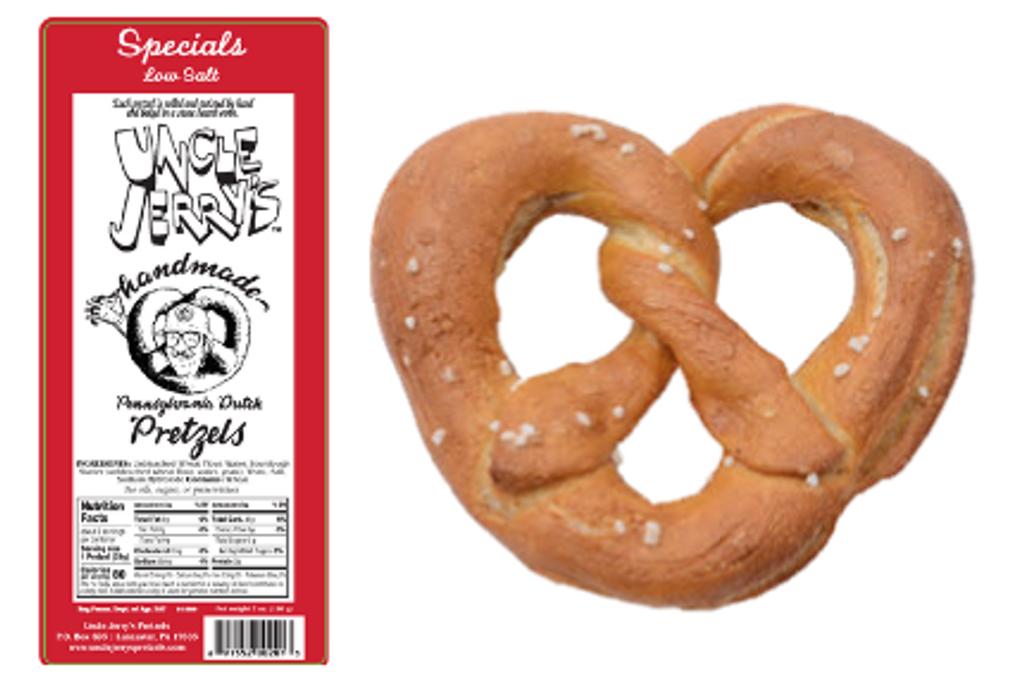 Low sodium, handmade sourdough pretzel