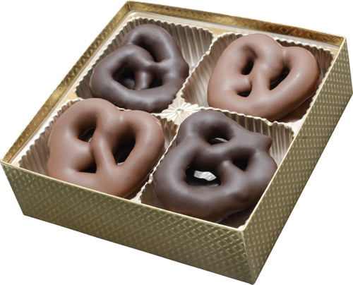 Chocolate Pretzel Gold Gift Box